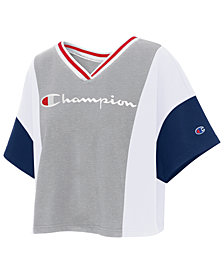 Champion Colorblock Cropped T-Shirt
