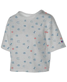 Champion Cotton Logo-Print Cropped T-Shirt