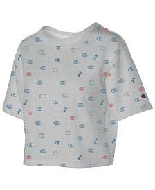 Champion Cotton Logo-Print Cropped T-Shirt