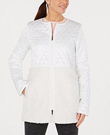 Calvin Klein Performance Plus Size Mixed-Media Jacket