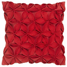 """Rizzy Home 18"""" x 18"""" Botanical Petals Pillow Cover"""