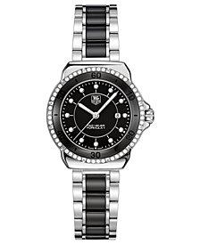 TAG Heuer Women's Swiss Formula 1 Diamond (1/3 ct. t.w.) Stainless Steel and Black Ceramic Bracelet Watch 32mm