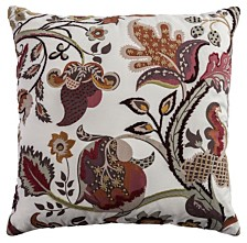 """Rizzy Home 20"""" x 20"""" Floral Pillow Cover"""