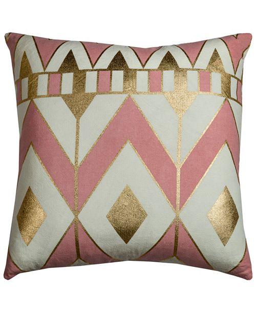 "Rizzy Home Rachel Kate 20"" x 20"" Geometrical Design Pillow Cover"