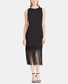 Lauren Ralph Lauren Fringe-Hem Dress