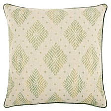 "22"" x 22"" Woven Diamond Pillow Cover"