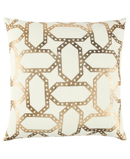 "Rizzy Home 20"" x 20"" Geometrical Design Pillow Cover"