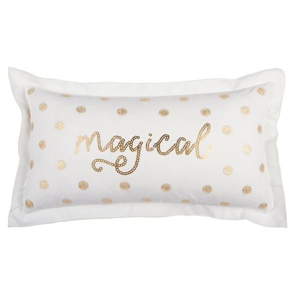 "Rizzy Home 14"" x 26"" Typography Pillow Cover"