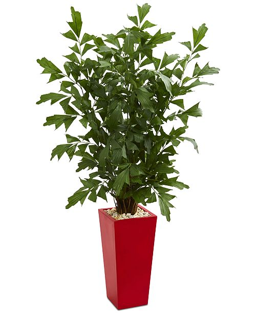 Nearly Natural 4.5' Fishtail Artificial Palm Tree in Planter