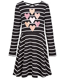 Epic Threads Super Soft Toddler Girls Stripes & Hearts Dress, Created for Macy's