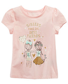 Epic Threads Little Girls Sisters-Print T-Shirt, Created for Macy's