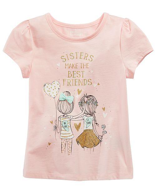 6cd646d17529 Epic Threads Little Girls Sisters-Print T-Shirt