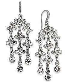 I.N.C. Silver-Tone Crystal Chandelier Earrings, Created for Macy's