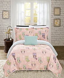 Owl Farm 4 Piece Full Quilt Set