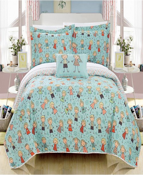 Chic Home Jacala 4 Piece Full Quilt Set