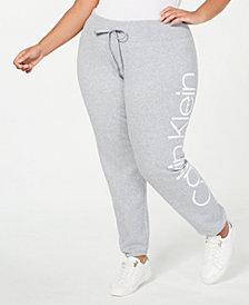 Calvin Klein Performance Plus Size Oversize-Logo Joggers