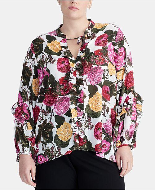 RACHEL Rachel Roy Plus Size Peyton Ruffle Top, Created for Macy's