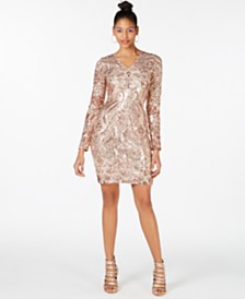 Marciano Nude Sequin Bodycon Dress, Created for Macy's