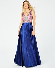 ac2ae9e86304 Say Yes to the Prom Juniors' Rhinestone Floral-Embroidered Gown, Created  for Macy's