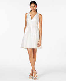 Laundry by Shelli Segal Metallic Jacquard Fit & Flare Dress