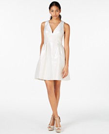 Laundry by Shelli Segal Metallic Jacquard Fit & Flare Dress