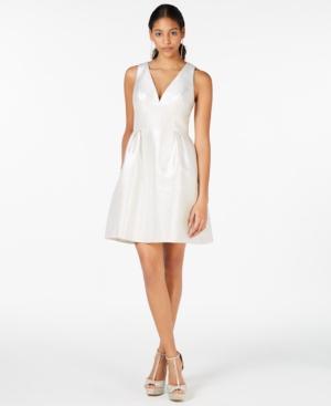 Laundry By Shelli Segal Dresses LAUNDRY BY SHELLI SEGAL METALLIC JACQUARD FIT & FLARE DRESS