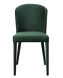 Metropolitan Forest Green Velvet Chair