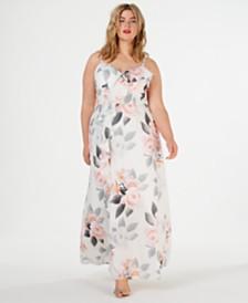 02d32ebab4f84 City Chic Trendy Plus Size Floral-Print Maxi Dress