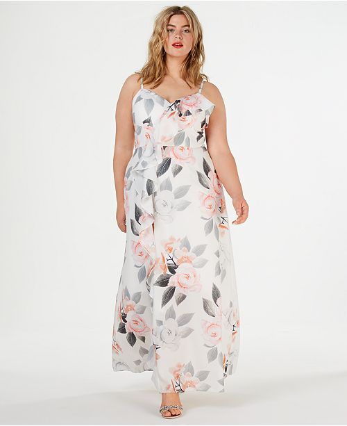 City Chic Trendy Plus Size Floral-Print Maxi Dress & Reviews ...