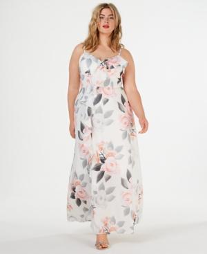 City Chic Dresses TRENDY PLUS SIZE FLORAL-PRINT MAXI DRESS