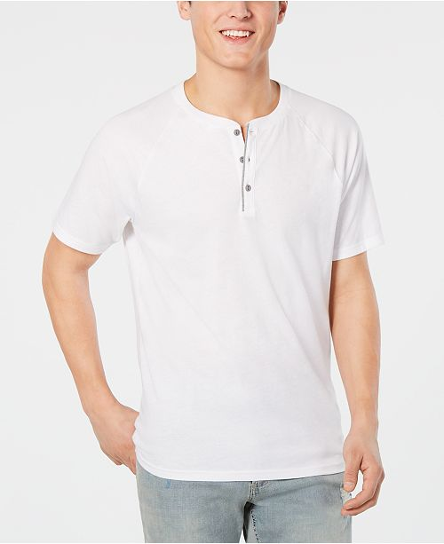 American Rag Men's Solid Raglan Henley, Created for Macy's