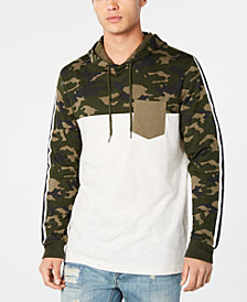 American Rag Men's Camo Blocked Hoodie, Created for Macy's