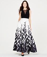 b64503b40 Morgan & Company Juniors' Black & White Printed Gown, ...