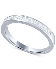 Diamond (1/2 ct. t.w.) Channel Band in 14k White Gold