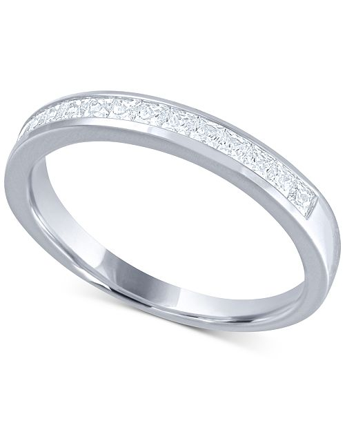Macy's Diamond (1/2 ct. t.w.) Channel Band in 14k White Gold