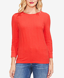 Vince Camuto Textured Combed Cotton Sweater