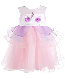 Blueberi Boulevard Baby Girls Unicorn Dress