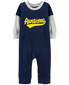 Baby Boys AWESOME Graphic Cotton Coverall