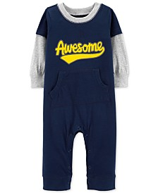 Carter's Baby Boys AWESOME Graphic Cotton Coverall