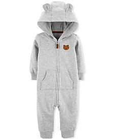Carter's Baby Boys Hooded Bear Cotton Coverall