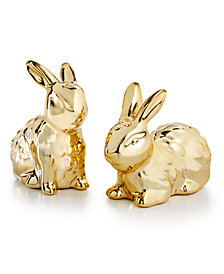 Martha Stewart Collection Bunny Salt & Pepper Shakers, Created for Macy's