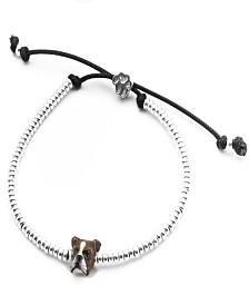Boxer Head Bracelet in Sterling Silver and Enamel