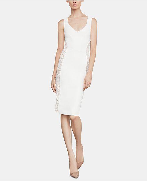 01ecb29a BCBGMAXAZRIA Lace-Inset Sheath Dress & Reviews ...
