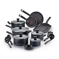 T-Fal Initiatives Nonstick 18 Piece Cookware Set Deals