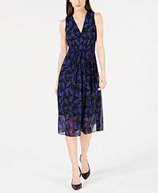 Anne Klein Printed Sleeveless A-Line Dress
