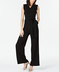 52080a9ea306 Calvin Klein Sleeveless Ruffled Wide-Leg Jumpsuit