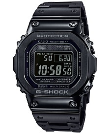 G-Shock Men's Solar Digital Black Stainless Steel Bracelet Watch 43.2mm