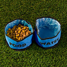 Collapsible Travel Pet Bowls - Set of 2
