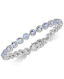 Tanzanite Rope-Framed Link Bracelet (12 ct. t.w.) in Sterling Silver