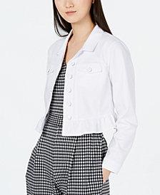 Calvin Klein Ruffle-Hem Jacket